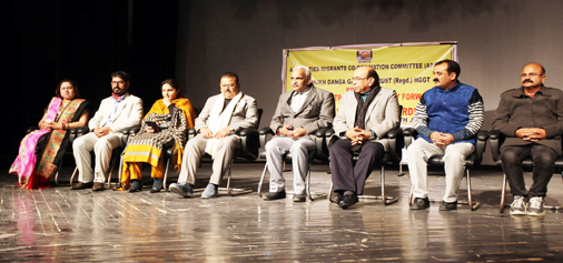 Dignitaries during a function at Jammu on Sunday. -Excelsior/Rakesh