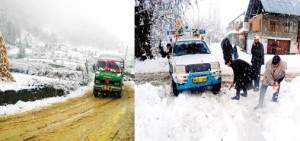 NH, air-traffic to Srinagar restored;  1500 stranded vehicles cleared