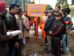 Sat lays foundation stone of  UEED works worth Rs 2.04 cr