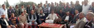 Members of Batwal Welfare Association holding a meet.