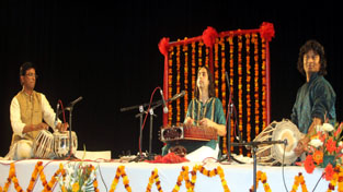 Artists performing during 'Ek Sham Aapke Naam' on Tuesday.