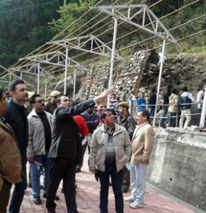DDC reviews progress of development activities at Shiv Khori Shrine