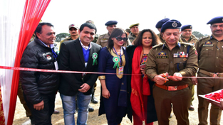DGP Dr SP Vaid inaugurating District Police Office building at Kathua on Sunday.