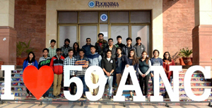 B Arch students of Department of Architecture and Landscape Design, SMVDU Katra posing for a photograph at 59th Annual NASA Convention at Jaipur.