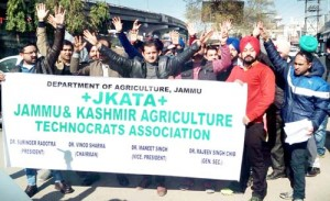 Agriculture Technocrats protest for release of  their salary