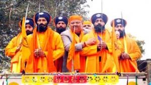 Impressive Nagar Kirtan held at Samba
