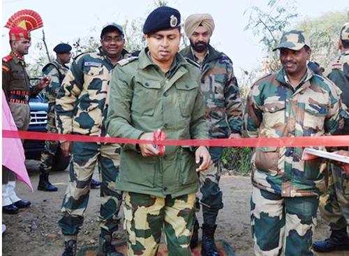 Commandant, 173 Battalion BSF, K Ganesh inaugurating a medical camp at a border village in Kathua district.