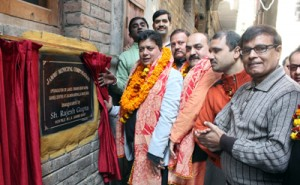 Rajesh inaugurates development works