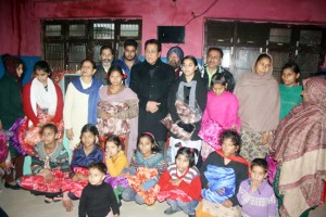 Chib visits Bal Ashram, Nari Niketan at RS Pura