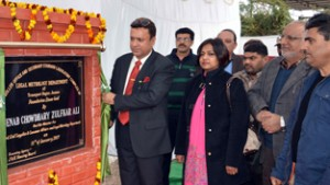 Zulfkar lays foundation of LMD office complex at Narwal