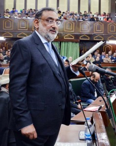 Drabu presents budget with Rs 80,000 cr spendings, Rs 100 cr ARM