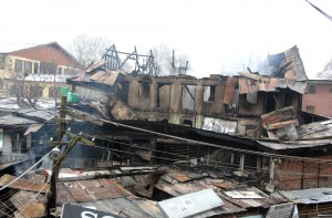2 banks, Post Office, 20 shops gutted
