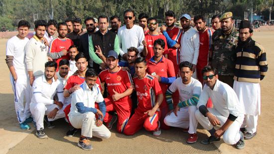 Winners posing alongwith dignitaries and officials at Sports Stadium, Reasi.