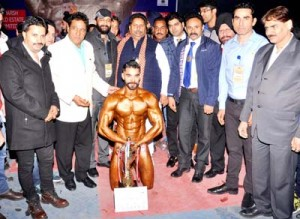 Sidhant emerges champion in Mr Jammu Body Building C'ship