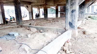 Multi-crore project at Subash Stadium Udhampur in a dilapidated condition.