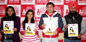Aryans double scholarship for J&K students