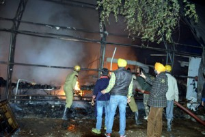 Fire breaks out in trade fair exhibition,  property worth lakhs gutted