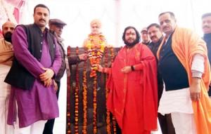 Vivekananda's statue unveiled  at Bawa Kailakh Dev Asthan