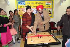 Chief Engineering Bikram Singh inaugurating Annual Sports Meet of NHPC Sewa II employees on Tuesday.