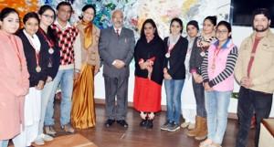 VC Jammu University honours JU's Skit team
