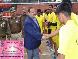 166 Bn CRPF organizes Volleyball Tournament