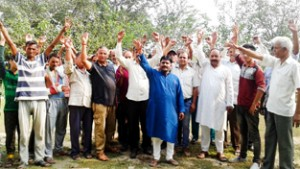 Villagers protest for development of Devika Sangam