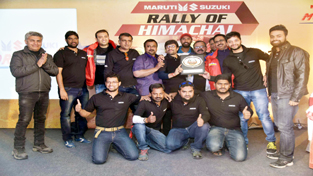 Karthick Maruthi team posing for a photograph after winning Maruti Suzuki National Super League Championship.