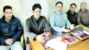 PK leaders at a press conference at Jammu on Sunday. —Excelsior/Rakesh