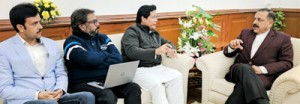 Dr Jitendra discusses tourism promotion plans for Shillong