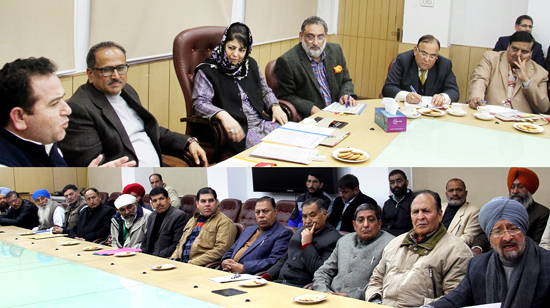Chief Minister Mehbooba Mufti interacting with representatives of transporters in Jammu on Wednesday.