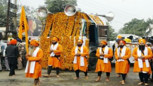 Nagar Kirtan taken out at  Kathua, Poonch, Nowshera