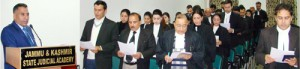 Director Judicial Academy administers  oath to newly enrolled Advocates