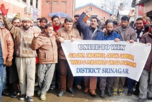 Employees seek regularization,  implementation of 7th Pay Commission