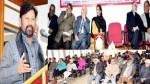 Minister for Forest Choudhary Lal Singh addressing a gathering at a function in Jammu on Sunday.