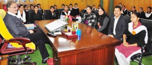 Students witness proceedings, interact with Speaker
