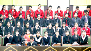 Students witnessing proceedings of Legislative Assembly on Tuesday. -Excelsior/Rakesh