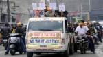 YAIKS rath yatra being taken out in Jammu on Saturday. -Excelsior/Rakesh