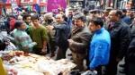 JMC officials during an anti-encroachment drive in Jammu city.