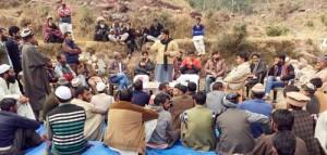 Wasim Kohli conducts tour of Kalakote villages