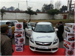 Jammu Motors displays Maruti  vehicles at Gulshan Ground