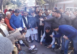 Educated youth torch degrees  protesting jobs to stone pelters