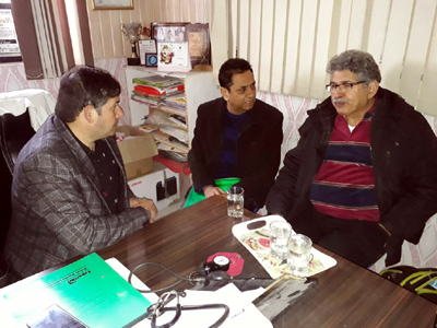 A doctor examining the patient during a cardiology camp at Maxx Lyfe Hospital, Sunjwan Road, Jammu.