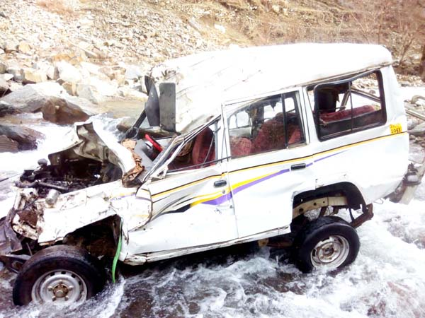 Wreckage of ill-fated vehicle. -Excelsior/Pervaiz