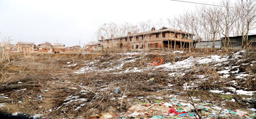 Under construction JLNM Hospital at Rainawari.