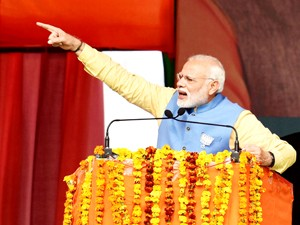 PM takes dig at SP-Cong tie-up, says there is BJP storm in UP