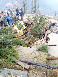 Boy dies as house collapses in Kishtwar area on Sunday.