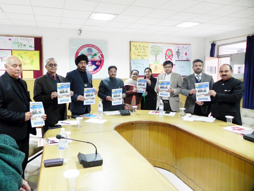 Newsletter being released by the Management of Dogra College of Education in Jammu.