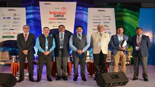 MD J&K SIDCO Amit Sharma and others posing for photograph during Vishakhapatnam Technology Sabha.