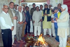 Sangram Sena performs  Maharudhra Yagya