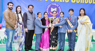 Dignitaries during Annual Day celebration at Crescent Public School, Janipur in Jammu.